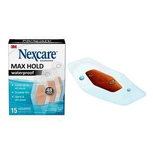 3m™ Nexcare™ Max Hold Waterproof Bandage, Assorted, 15 Count