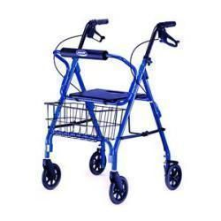 Adult Rollator With Basket, Blue