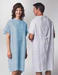 Gown Patient Strt Back Ties Star Print