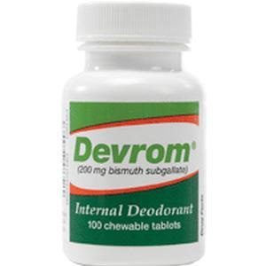 Parthenon Co Inc Devrom® Chewable Tablets, Internal Deodorant