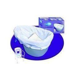 Cleanis Carebag Commode Liner With Super Absorbent Pad 20-1/2 L X 15-7/10 W, Disposable