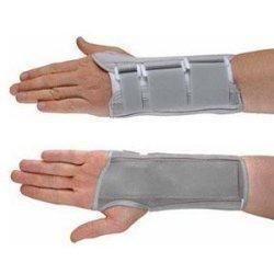 Ossur Americas Contoured Wrist/forearm Braces Medium, 8 Breathable Sturdy, 7-1/4 To 8 Wrist Cicumference, Left Wrist, Gray
