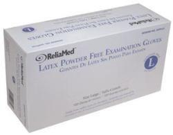 Reliamed Non-Sterile Powder-Free Latex Examination Glove Large