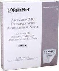 Reliamed Silver Alginate/cmc Dressings 4 X 4-3/4 Pad