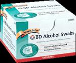 Product Photo: ALCOHOL SWABS, 100 FOIL WRAP WIPES/BOX