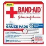 Product Photo: Band-Aid® First Aid Gauze Pads Medium