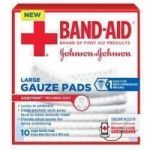 Product Photo: Band-Aid® First Aid Gauze Pads Large