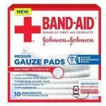"Product Photo: Band-Aid® First Aid Gauze Pad, 3"" x 3"" Assorted Size, Medium"