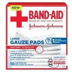 "Product Photo: Band-Aid® First Aid Gauze Pad, 4"" x 4"" Assorted Size, Large"