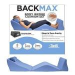 Product Photo: Contour® BackMax™ Memory Foam Wedge Cushion, with Neck Pillow, Compressed, 28""