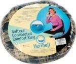 "Product Photo: Hermell Products Soft-Eze™ Invalid Ring with Plaid Cover 18-1/4"" x 15-1/5"" Removable, Washable"