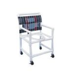"Product Photo: PVC Wide Shower Commode Chair 38-1/2"" H x 22"" W x 22-3/4"" D - Item #: HMPSC6013W"