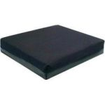 "Product Photo: Hudson Gel Foam Cushion 16"" x 16"" x 2"" Fabricated Foam Core, Black Polyester Cover"