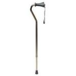 "Product Photo: GF Health Lumex Adjustable Offset Cane 34"" to 42"" 250 lb. Capacity, Ortho Ease Standard Length, Aluminum"